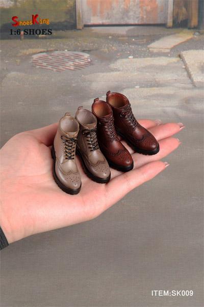 【Shoes King】1/6 SK009 男性用ブーツ 1/6スケール シューズ