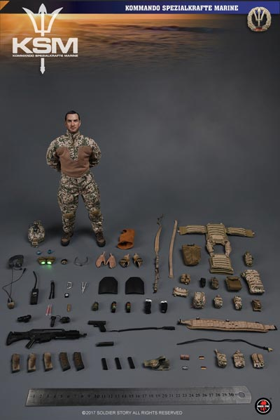 【Soldier Story】SS104 1/6 KSM Kommando Spezialkräfte Marine VBSS ドイツ連邦 海軍特殊部隊 1/6スケールミリタリーフィギュア