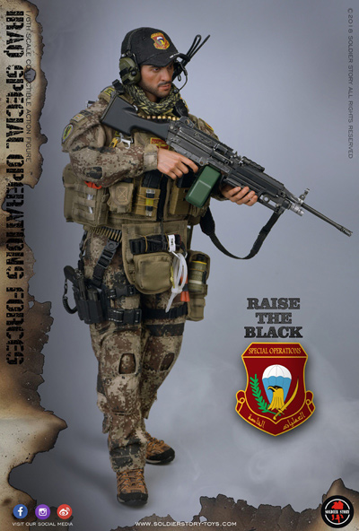 【Soldier Story】SS107 1/6 Iraq Special Operations Forces ISOF SAW GUNNER イラク特殊作戦部隊 SAWガンナー