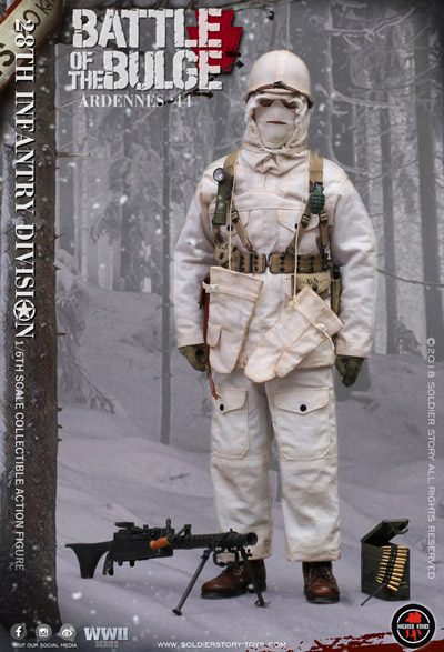 【Soldier Story】SS111 1/6 WW2 U.S. Army 28th Infantry Division Battle of the Bulge Ardennes 1944