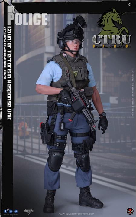 【Soldier Story】SS115 1/6 HK POLICE CTRU (Assault Team) 香港警察 反恐特勤隊 1/6スケールミリタリーフィギュア