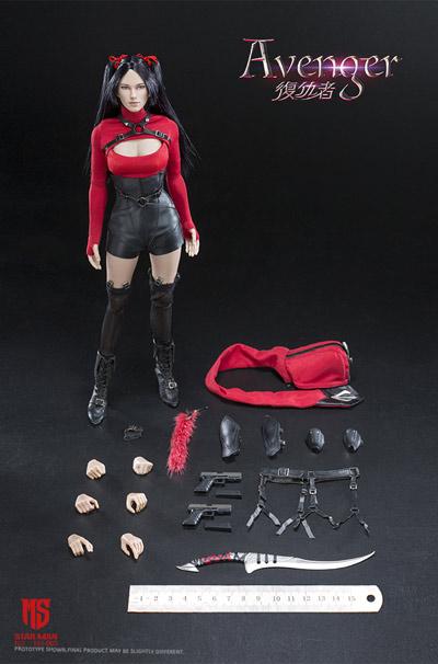 【星漫 STAR MAN】MS-005 1/6 Female AVENGER 女性復讐者 1/6スケール女性フィギュア