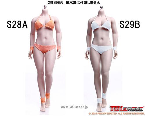 【TBLeague】PHMB2019-S28A (pale) S29B (suntan) TBリーグ 1/6スケール シームレス女性ボディ (ヘッドなし)