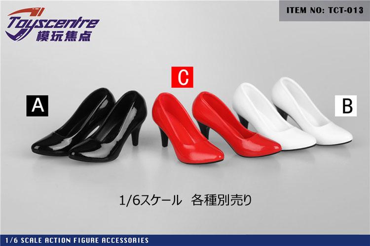【TOYSCENTRE】TCT-013 ABC Women High Heels 女性ドール用ハイヒール 1/6スケール 女性用シューズ