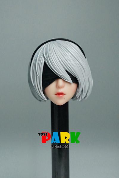 【TOYS PARK】TP001 1/6 head carving 1/6スケール 女性ヘッド