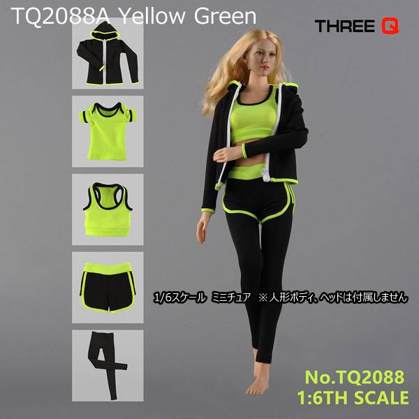 【THREE Q】TQ2088 1/6 Women's Sports Yoga Clothing 女性用スポーツウェアセット ヨガ 1/6スケール 女性ドール用コスチューム