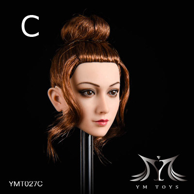 【YMtoys】YMT027 ABCD beauty headsculpt 1/6スケール 植毛 女性ヘッド hk-3929