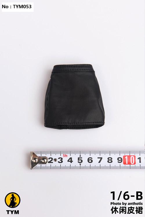【TYM】TYM053 1/6 Leather skirt ミニスカート 1/6スケール 女性ドール用コスチューム