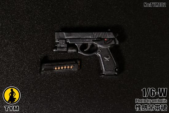 【TYM】TYM102 1/6 Printed Cheongsam チャイナドレス&拳銃 1/6スケール 女性ドール用コスチューム
