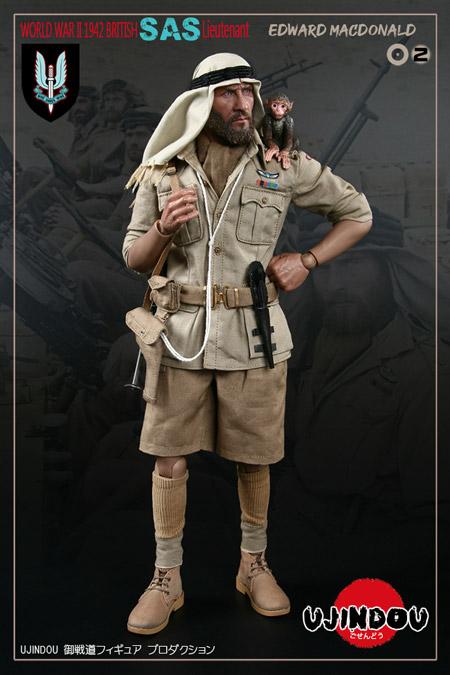 【UJINDOU】UD90002 1/6 WW2 BRITISH SAS LIEUTENANT EDWARD MACDONALD 1942