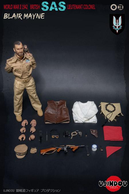【UJINDOU】UD90003 1/6 WW2 1942 BRITISH SAS LIEUTENANT COLONEL BLAIR MAYNE