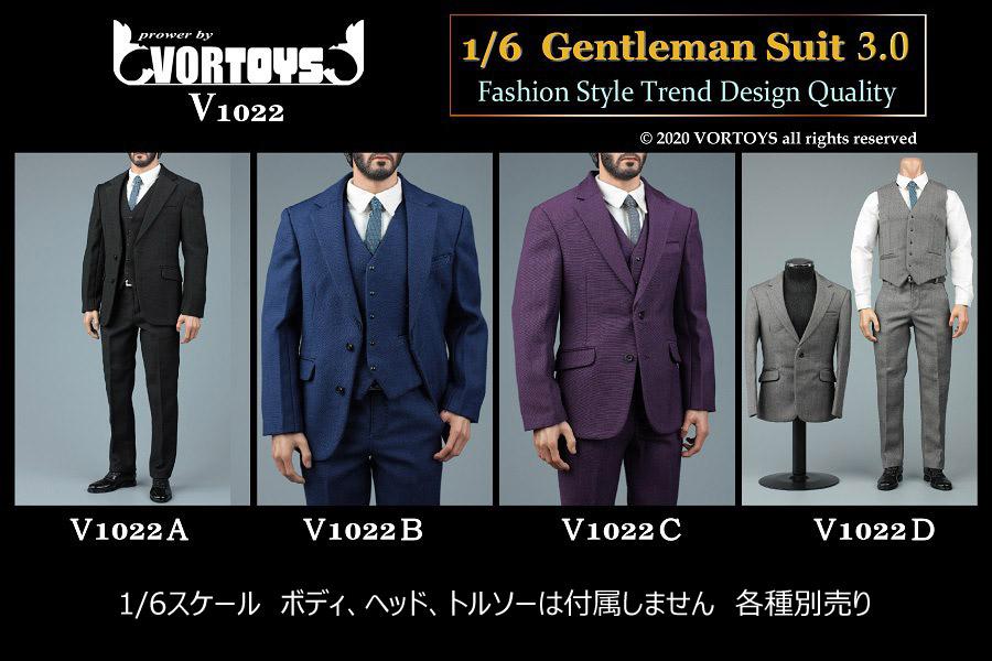 【VORTOYS】V1022 1/6 Gentleman Suit 3.0 1/6スケール 男性ビジネススーツセット