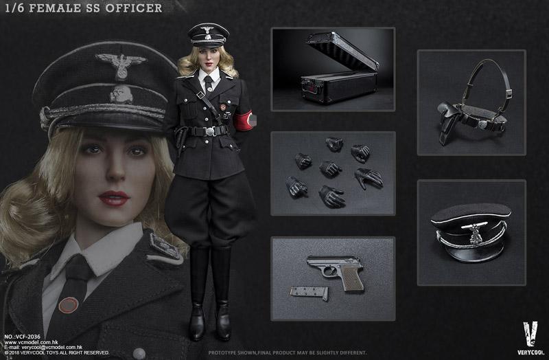 【VeryCool】VCF2036 1/6 Female SS Officer WW2 ドイツ軍 親衛隊 女性オフィサー 1/6スケール女性フィギュア