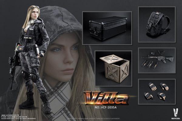 【VeryCool】VCF2035A 1/6 Python Stripe Camouflage - Villa Sister Flower女性兵士 ヴィッラ 1/6スケール女性フィギュア