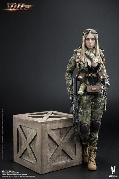 【VeryCool】VCF2035B 1/6 Python Stripe Camouflage - Villa Sister Flower 女性兵士 ヴィッラ 1/6スケール女性フィギュア