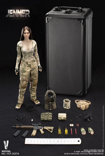 【VeryCool】VCF2037A 1/6 A-TACS FG Double Women Soldier - JENNER (A Style) 女性兵士 ジェンナー 1/6スケール女性フィギュア