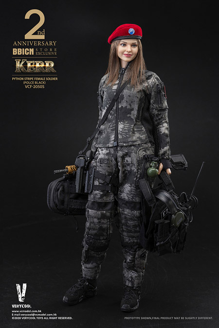 【VeryCool】VCF-2050S 1/6 PYTHON STRIPE (POLICE BLACK) WOMEN SOLDIER-KERR
