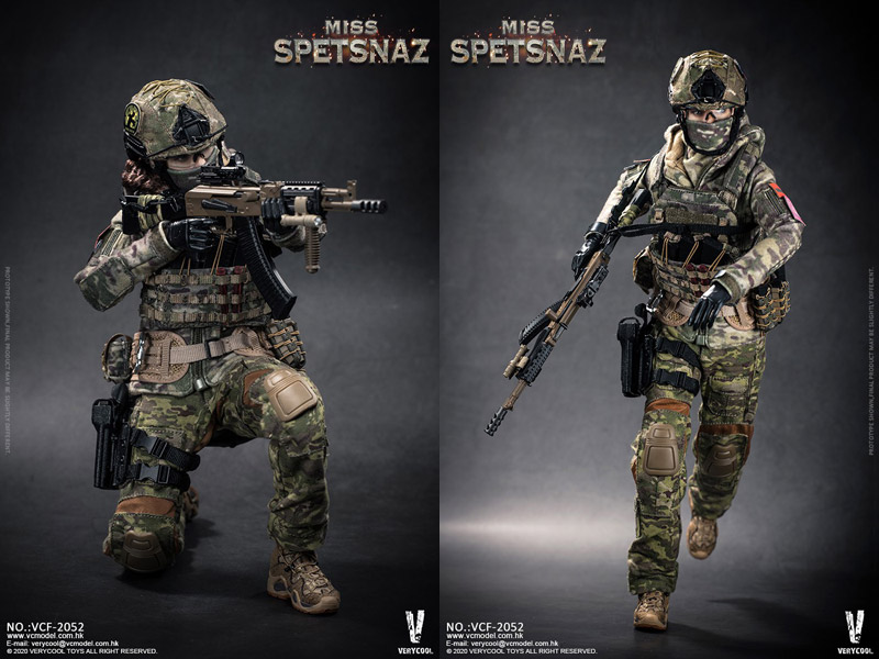 【VeryCool】VCF-2052 1/6 Russian Special Combat Women Soldier Miss SPETSNAZ ロシア特殊任務部隊 ミス スペツナズ 女性兵士