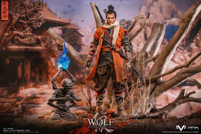 【VTS】VM-030DX 1/6 The wolf of Ashina 葦名の狼 豪華版 不死斬り 1/6スケール男性フィギュア