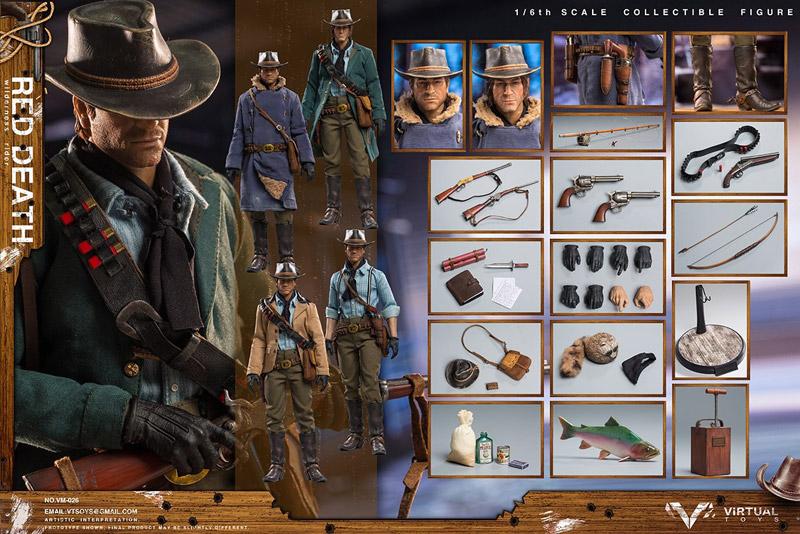 【VTS】VM-026 1/6 RED DEATH-WILDERNESS RIDER Wild West Cowboy ワイルド・ウエスト・カウボーイ 1/6スケール男性フィギュア