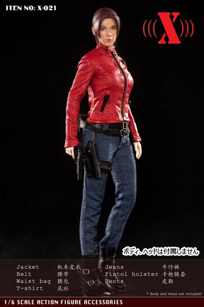 【X-TOYS】X-021 女性ライダー服セット 1/6スケール 女性コスチューム