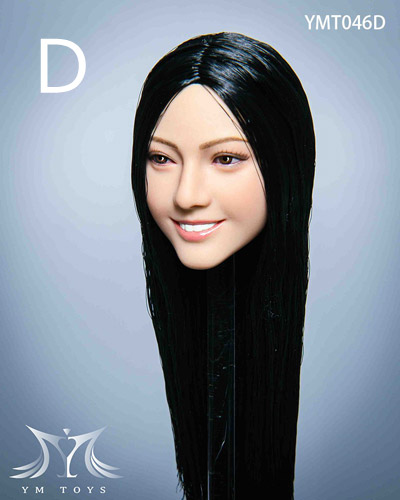 【YMtoys】YMT046 ABCDE beauty headsculpt 1/6スケール 植毛 女性ヘッド