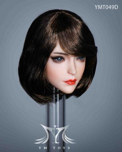 【YMtoys】YMT049 ABCD beauty headsculpt 1/6スケール 植毛 女性ヘッド