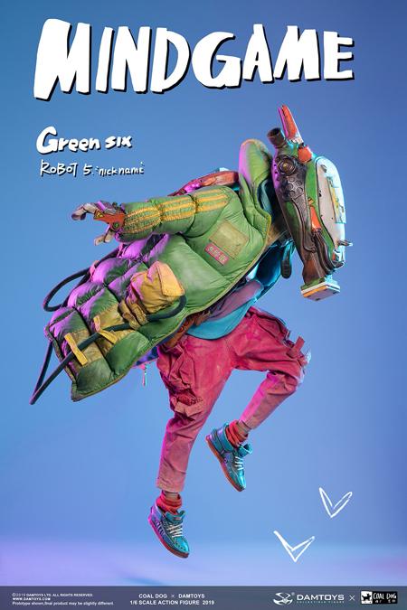 【DAM】ZP003 Damtoys x Coal Dog  New Collaboration Mindgame series GREEN SIX 1/6 Action figure