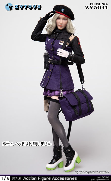 【ZYTOYS】ZY5041 Female Military Uniform 女性ドール用軍服 制服 1/6スケール 女性コスチューム