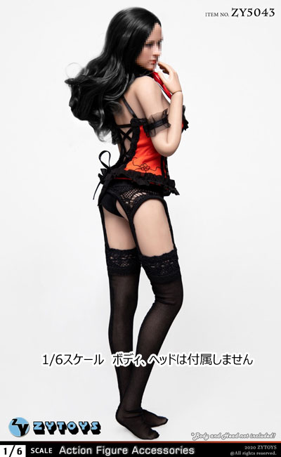 【ZYTOYS】ZY5043 Red Maid Outfit 女性ドール用メイド服 赤 1/6スケール 女性コスチューム