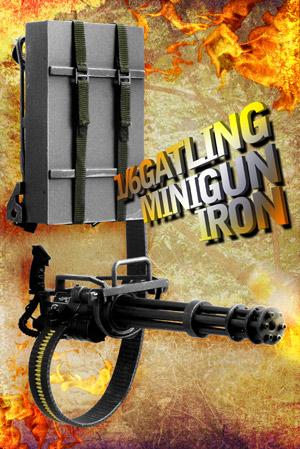 【ZYTOYS】ZY8019(アイアンカラー) 1/6 M134 GATLING MINIGUN 1/6スケール ガトリング ミニガン