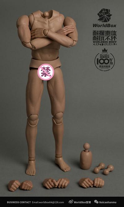 【WorldBox】AT025 DURABLE BODY Action Body 1/6スケール 男性ボディ素体