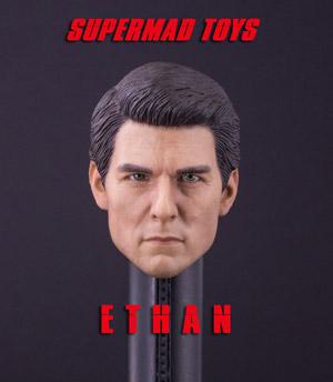 【SUPERMAD TOYS】E 1/6スケール 男性ヘッド hk-4705