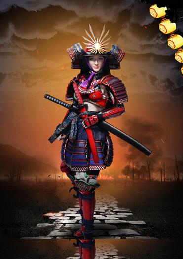 【i8TOYS】001A 1/6 Female samurai RIN Red armor version 女武士 侍 凛 紅色版 1/6スケール女性フィギュア