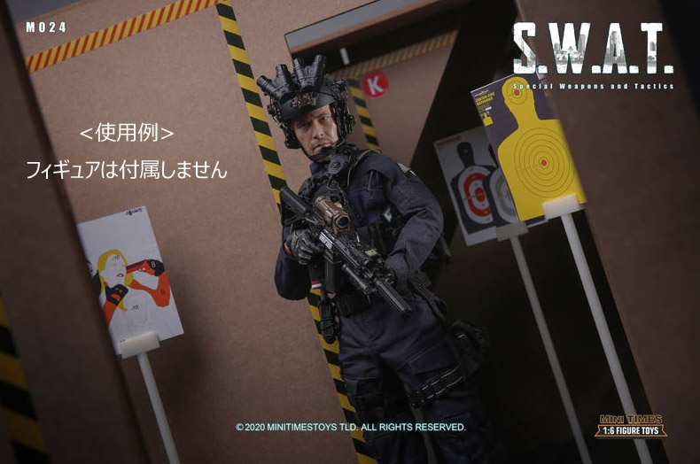 【MiniTimesToys】MT-M024(情景単品) 1/6 SWAT Police Shoot House 情景セット 1/6スケール 射撃訓練場
