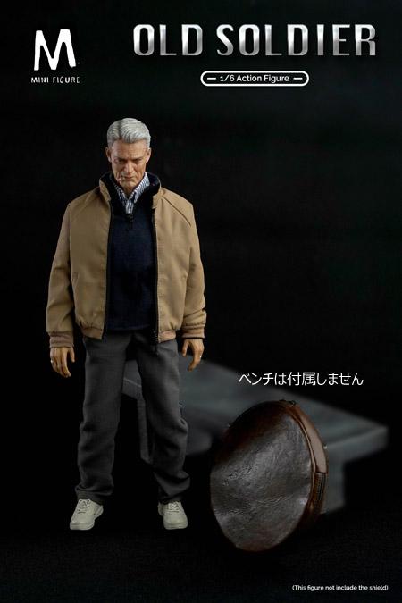 【Mini Figure】Min-002 1/6 Old Man -Old Soldier オールドマン 老人 1/6スケールフィギュア