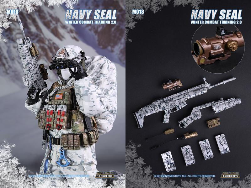 【MiniTimesToys】MT-M018 1/6 Navy Seal Winter Combat Training 2.0 アメリカ海軍 ネイビーシールズ 冬季訓練 1/6スケールフィギュア