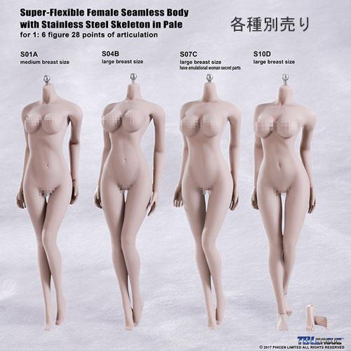 1//6 Phicen Flexible Steel Skeleton Seamless Suntan Large Bust S09C Body TBLeague