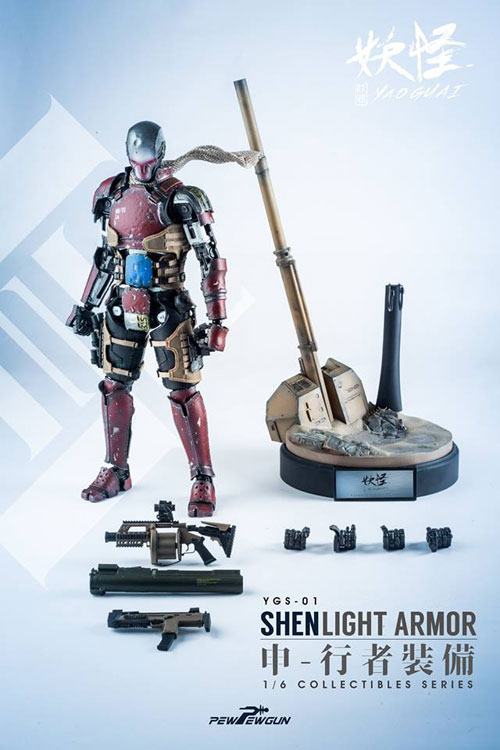 【PEWPEWGUN】YGS01 1/6 SHEN Light armor ロボティック ピンヤイク シェン ライトアーマー 1/6スケールフィギュア